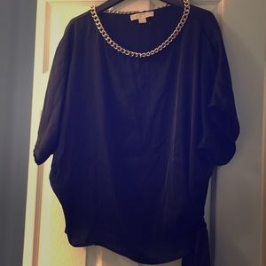 New Michael Kors black top with gold chain detail
